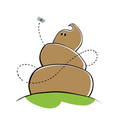 Poo character (shit gay). Vector illustration.
