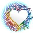 Cuore Sfondo Arcobaleno Astratto-Ornamental Rainbow Heart