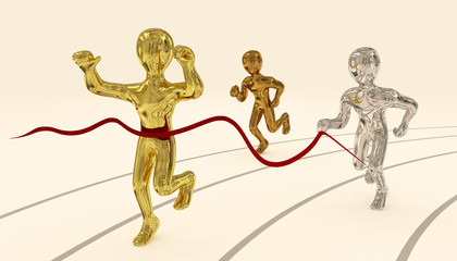 Gold, Silver and Bronze Sprint