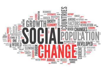 "Word Cloud ""Social Change"""