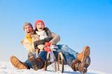 Fototapety winter paar