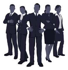 Young dynamic business team