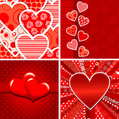 Valentine heart pattern, vector