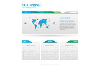 Minimalistic website template