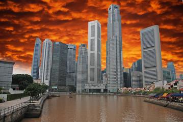 Storm approaching Singapore