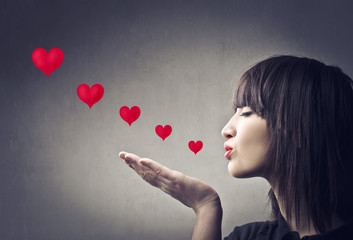 Sending kisses