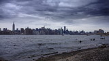 Manhattan Skyline Time Lapse from Beach