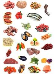 Collage con alimentos
