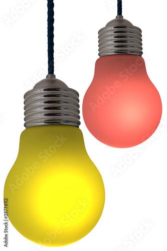 Lampe ampoule de couleur suspension photo libre de for Ampoule de couleur castorama