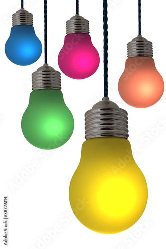 Luminaire ampoule de couleur suspension photo libre for Ampoule de couleur castorama