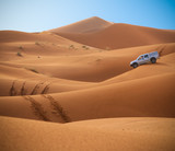 Jeep in the Sahara