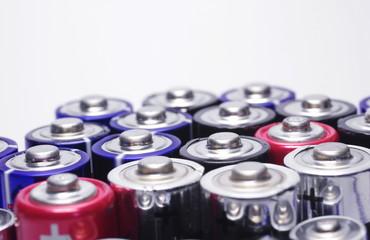 Bunte Batterien