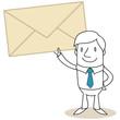 Geschäftsmann, Briefumschlag