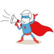 Superheld, Megaphon