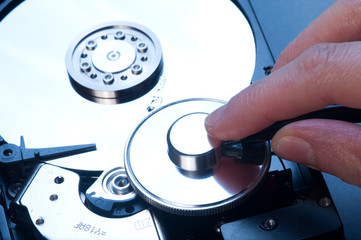 antivirus and hard disk concept