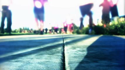 People Running Marathon (Slow Motion)