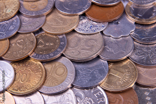 assorted set of coins