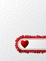 Valentine greeting card design with red hearts