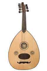Arabic musical instrument isolated on white with clipping path