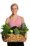 Woman With Fresh Produce