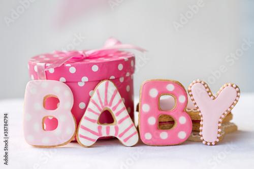 Baby shower cookies - 38784794