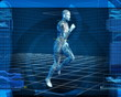 Bionic 3D Man Running (Loop)