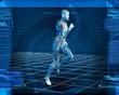 Bionic 3D Man Running (Loop)