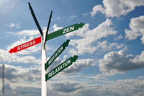 Panneaux de direction stress zen