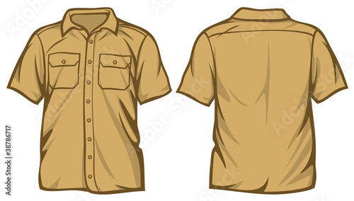 Men's shirt - short sleeve shirts
