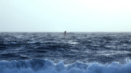 Buoy in Rough Ocean Seas