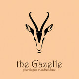 Logo gazelle in Africa # Vector