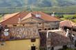 Ausblick von Bergdorf Motovun, Istrien, Kroatien