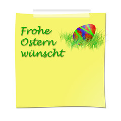 Frohe Ostern Post it Merkzettel