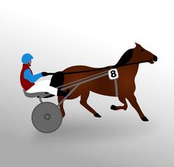 cheval trot attelé
