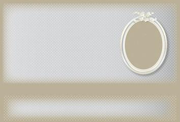 bannière-cadre photo gris à pois blanc