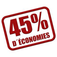 Stempel rot rel 45% D´ÉCONOMIES