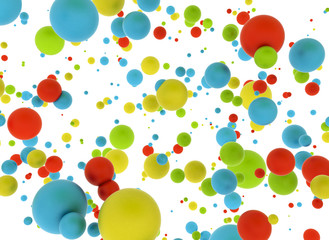Abstract multi color balls © Jezper