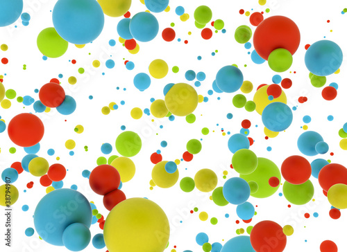 Abstract multi color balls