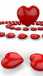 Herzkreise Rot Weiß