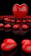 Herzkreise Rot Schwarz
