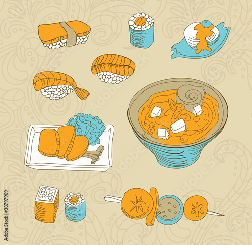 vector japan food icon