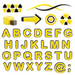 Make your logo abc alphabet set with emblems
