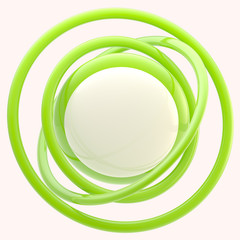 Abstract glossy background or blank button