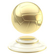 Golden volleyball ball champion goblet
