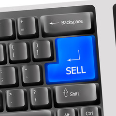 Sell on computer keyboard