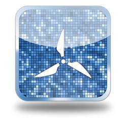 Windmill Glossy Button