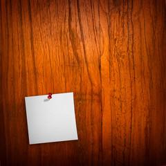 note on wood board