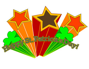 Happy St. Patrick's Day! Retro Style! Vector eps8 / jpeg