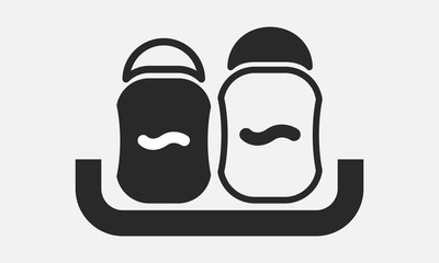 set of kitchen saltcellar icon.