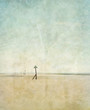 empty beach print